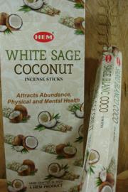 [ N-0463 ] White Sage Coconut Wierook, per rol á 20 stokjes