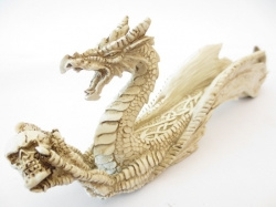 [N-0243]  Wierookhouder: Witte Fantasy draak  Lengte 26 cm hoogte 8 cm