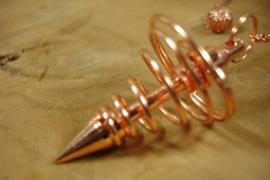 [ N-0455 ] Pendel 4.5 x 2.5 cm. Spiraal metaal, Rosé Goud