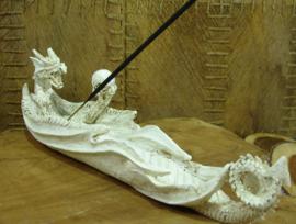 *[ N-0244]  Wierookhouder: Fantasy Draak Lengte 26 cm.