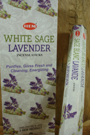 [ N-0464 ] White Sage Lavender Wierook, per rol á 20 stokjes