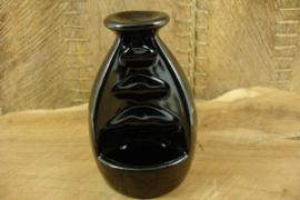 *[ N-0380 ] Backflow Houder 11 cm. Zwart Keramiek