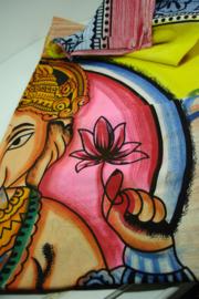 *[ N-0520 ] Wandkleed 140 x 210 cm. Shiva, Assorti kleur