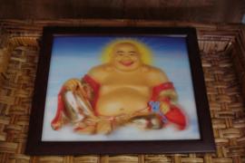 +[ N-0384 ] Schilderij Boeddha 28 cm.  breed