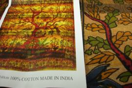 *[ N-0401 ] Kleed;  Boom in Bruin, 210 x 240 cm.