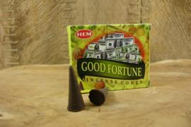 [ N-0385 ] Wierook Kegeltje; Good Fortune, per doosje á 10 stuks