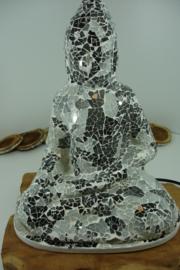 *[ N-0435 ] Boeddha LAMP van glas mozaïek  36 cm.