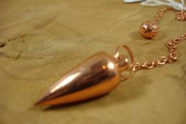 [ N-0455 ] Pendel 3 x 1.2 cm. Metaal punt, Rosé Goud
