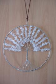 [ N-0268 ] Levensboom hanger 20 cm. Natuursteen Bergkristal
