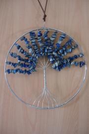 [ N-0267 ] Levensboom hanger 20 cm. Natuursteen Lapiz Lazuli