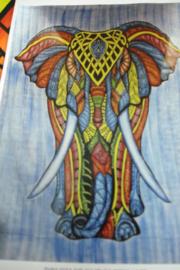 *[ N-0440 ] Kleed 210 x 240 cm. met Olifant