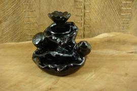 *[ N-0382 ] Backflow Houder 7.5 cm. Zwart Keramiek
