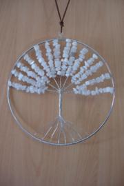 [ N-0264 ] Levensboom hanger 20 cm. Natuursteen Witte Jade
