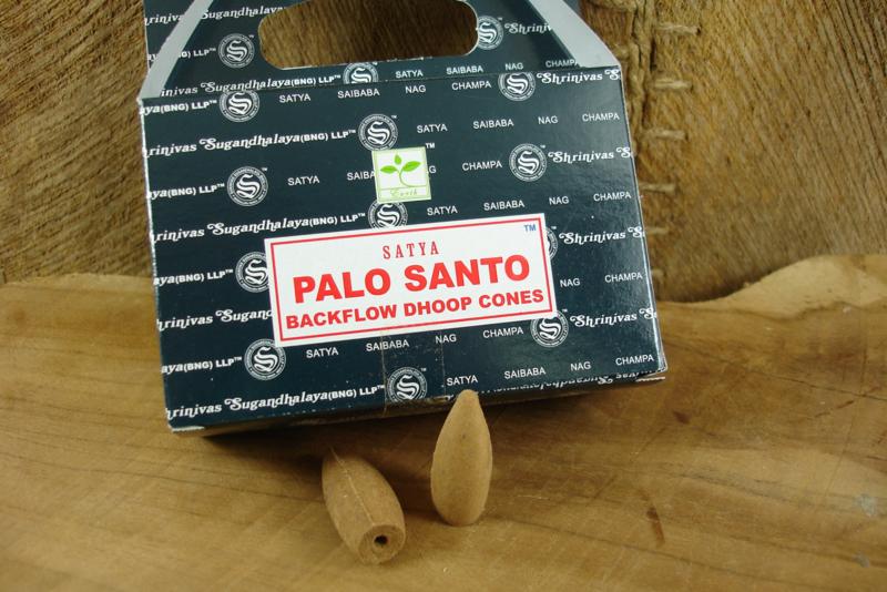 [ N-0373 ] Backflow kegeltjes; Palo Santo, per 8 stuks
