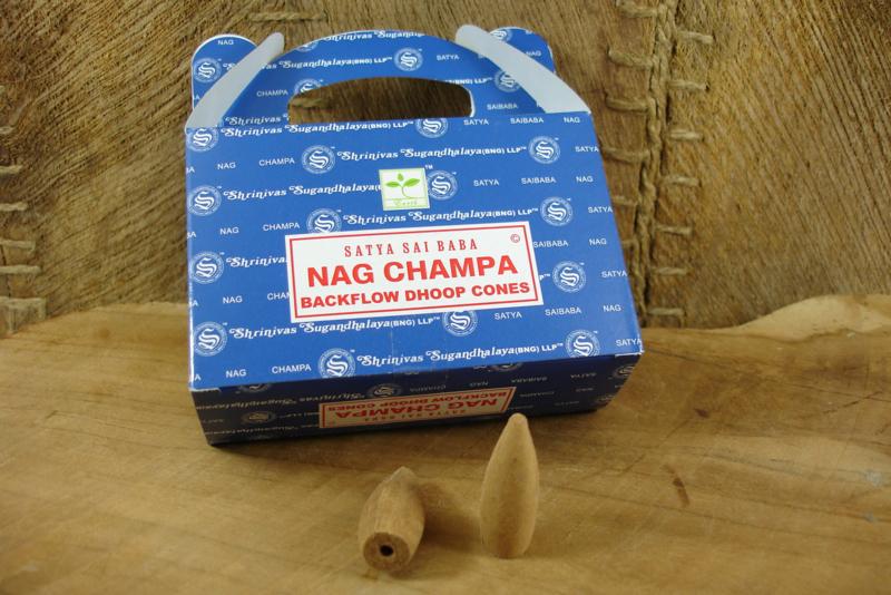 [ N-0371 ] Backflow Kegeltjes; Nag Champa, per 8 stuks