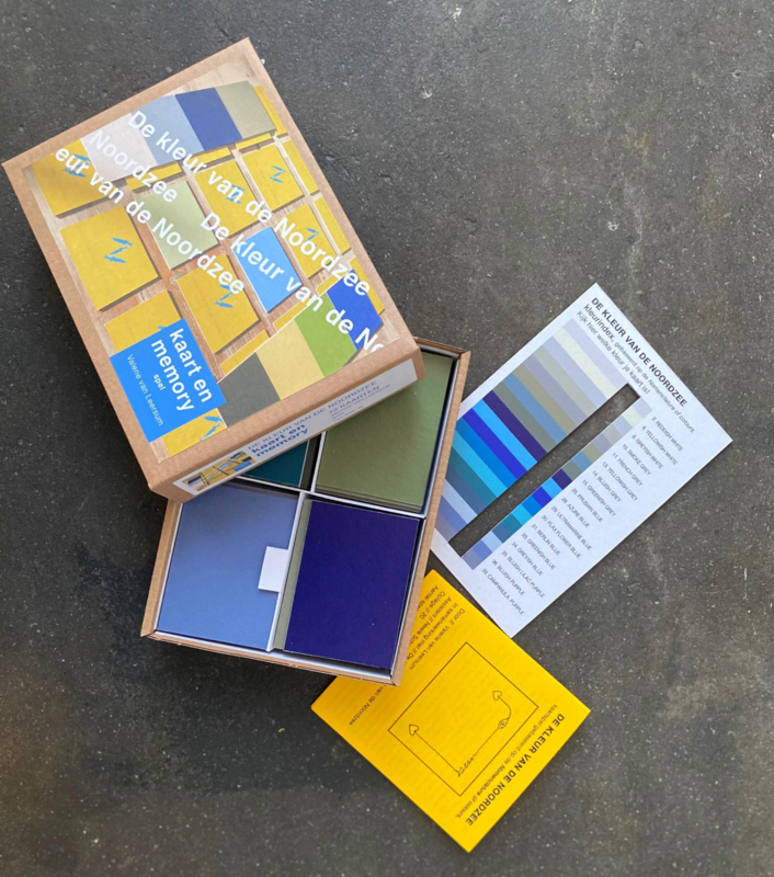 TIJDELIJK UITVERKOCHT De kleur van de Noordzee - kaart en memory