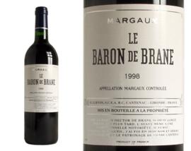 Château Baron de Brane, Margaux, 2ème vin du Château Brane Cantenac, 1998