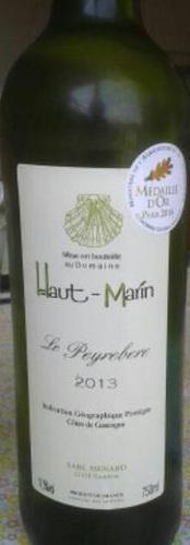 Le Peyrebère, Domaine Haut-Marin, Côtes-de-Gascogne, 2018