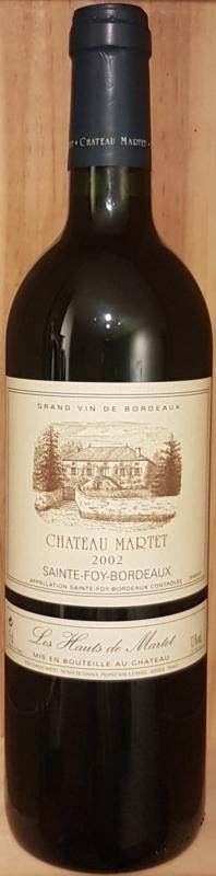 SOLDEN : Hauts de Martet, Sainte-Foy-Bordeaux, Fam. De Coninck, 2002
