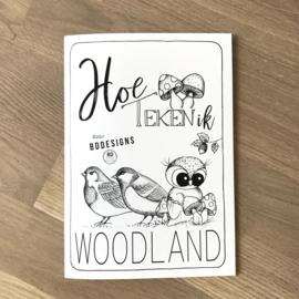 Hoe teken ik woodland | Leer tekenen met BDDesigns