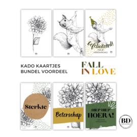 FALL IN LOVE   Voordeelbundel kado labels
