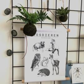 Bosdieren | Textielposter