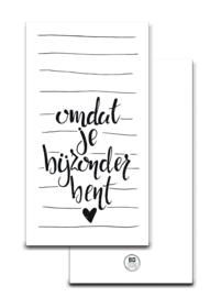 Omdat je bijzonder bent | Minikaartje