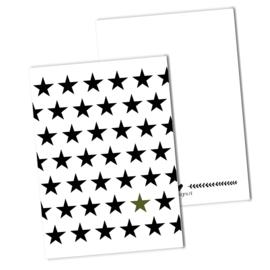 Sterren | Zwart - Wit