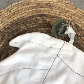 Speendoekje | Jungle leaf ROOD/ ROEST