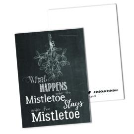 What happens under the mistletoe.. | Krijtbord
