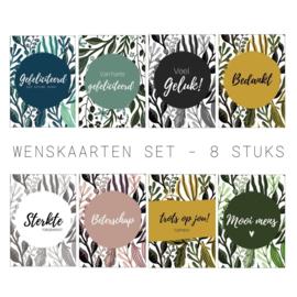 Wenskaarten set | 8 stuks