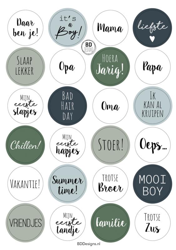 Stickervel | A5 It's a boy
