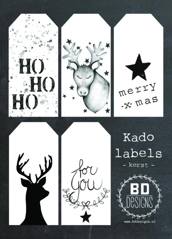 Kadolabel kaart | Kerst