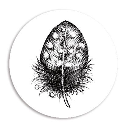 Sticker | Veer zwart - 5 st.
