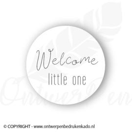 Sluitsticker, wit, welcome little one