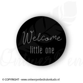 Sluitsticker, zwart, welcome little one