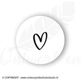 Sluitsticker, hart, wit