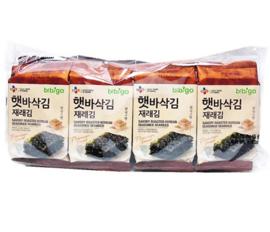 SEASONED LAVER (JAERAE)-CUT 햇바삭재래김 5g*8팩 세트