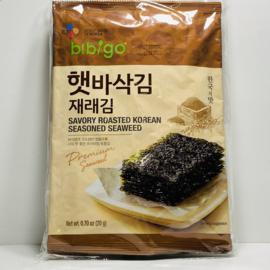 (Gangchu!!) JaeRae Seasoned Laver 비비고 햇바삭재래김 전장 20g