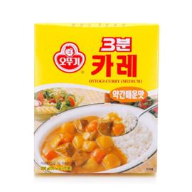 OTTOGI RETORT Curry 3 Minute(Regular) 오뚜기 3분 카레(약간 매운맛)200g