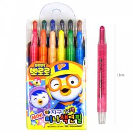 PORORO Mini Colored Pencil 뽀로로 미니 색연필 12색
