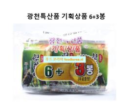 SEASONED LAVER(PARAE 6+3)-CUT 소문난 광천김-파래김 6+3봉(도시락)