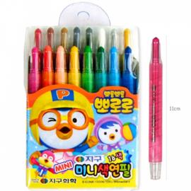 PORORO Mini Colored Pencil 뽀로로 미니 색연필 16색