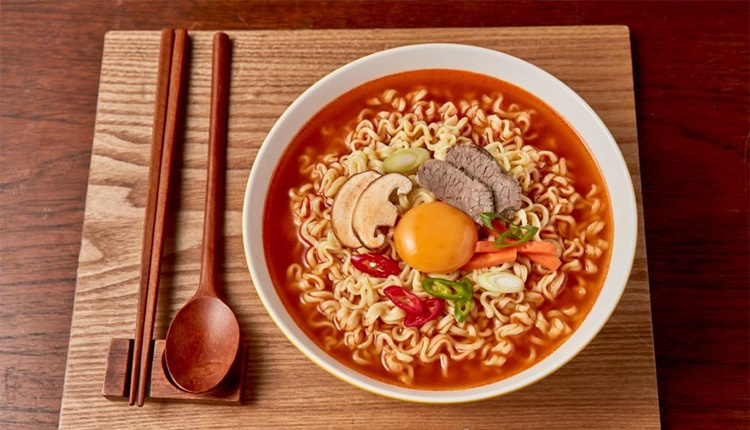 Image result for Ottogi Jin Ramen Hot flavor 120g