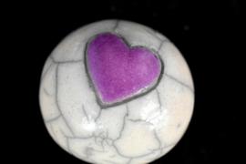 Mini bolurntje met een lila hartje (10-20ml)