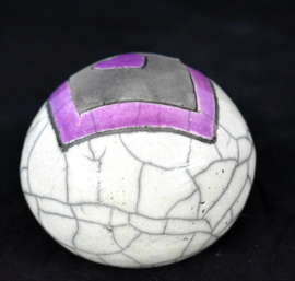 Mini urntje met paars hartje (80-100ml)