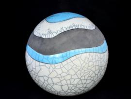 Urn met golvende lijnen -blauw (4-4,5 liter)