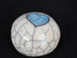 Mini bolurntje met een blauw hartje (10-20ml)