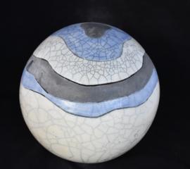 Urn met golvende lijnen -lavenblauw (4-4,5 liter)