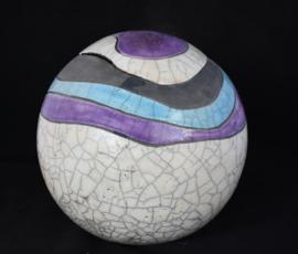 Urn met blauwe en paarse golvende lijnen (4-4,5 liter)